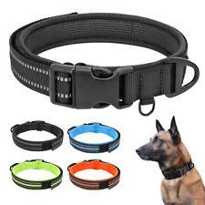 Reflective Nylon Dog Collars Soft Mesh Padded for Small Large Big Dog Blue XS-L