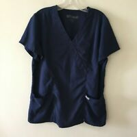Grey's Anatomy Scrub Top ABC Studios Medical Nursing Women's L Large
