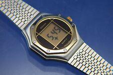 VINTAGE con EDOX Orologio DIGITALE LCD NUOVO NOS circa 1980s Swiss, Qualità Top