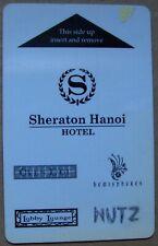 Electronic Key Card from Sheraton Hanoi Hotel & business card, Vietnam (A89)