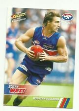 2008 AFL SELECT CHAMPIONS WESTERN BULLDOGS SCOTT WEST #195 COMMON CARD FREE POST