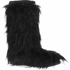 Black Faux Fur Prada Snow Boots Bunny Boots Style 3W5275  size UK 3.5 EU 36.5