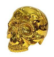 1/1 SKULL HEAD CHROME GOLD Ver. Secret Base Sofubi Soft Vinyl Figure Plating