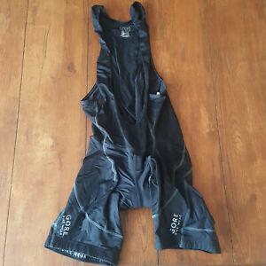 Gore Mens Medium Cycling Bibshorts Compression Shorts Bib M Black