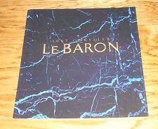 Original 1987 Chrysler LeBaron Deluxe Sales Brochure 87