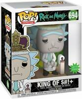 King of $#!+ with Sound Rick and Morty POP! Animation #694 Vinyl Figur Funko