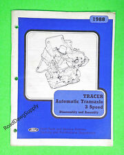 1988 Mercury Tracer 3 Speed Automatic Transaxle Service Shop Manual