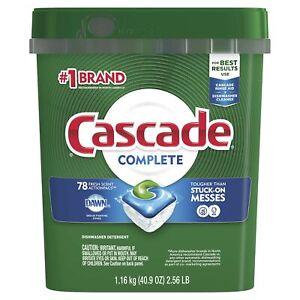 Cascade Complete ActionPacs, Dishwasher Detergent, Fresh Scent, 78 count