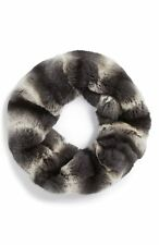 Toria Rose Genuine Rex Rabbit Fur Infinity Scarf