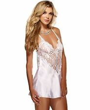 Satin Chemise With Matching Thong Small Dreamgirl 8718