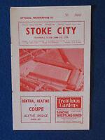Stoke City v West Bromwich Albion - 16/1/65 - Programme