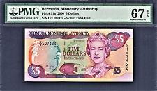 Bermuda $5 QEII 2000 Pick-51a Superb GEM UNC PMG 67 EPQ