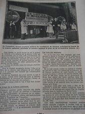 Trocédéro tirage du Loto Le lot de 5 millions avec numéro gagnant Print 1933