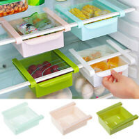 Kitchen Storage Box Fridge Freezer Saver Space Organizer Rack Shelf Holder Tool