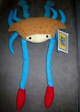 Peluche Crabe Wild Republic pattes bleues/rouge (L: 50 cm totale) scratch avant
