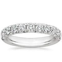 Diamond Ring Size M 1.00t Round Half Eternity Wedding Engagement 18k White Gold