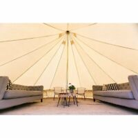 Bell Tent Steel Central Pole Rubber Bottom 3M4M5M6M Cotton Canvas  Camping Tent