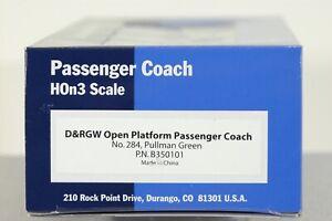 Blackstone Models HOn3 D&RGW Passenger Car #284. Green. New