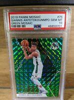 2019 Mosaic Giannis Antetokounmpo #76 Green Mosaic Prizm PSA 10 Gem Mint Low Pop