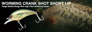 NORIES WORMING CRANK SHOT SHORT LIP MODELS CrankBait - Large Variety of Colours!