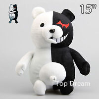 Japan Danganronpa Monokuma Bear Plush Toy Soft Stuffed Animal Doll 15'' Teddy