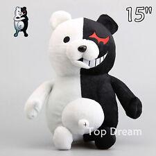 Japan Danganronpa Monokuma Bear Plush Toy Soft Stuffed Animal Doll 15'' Teddy
