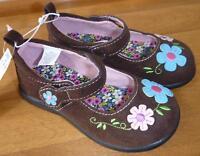 Girls Koala Kids Brown Suede Mary Jane Shoes Size 4 6 7 8 9 10 Flowers school