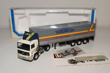 V LBS LOUIS SAUBER VOLVO F10 TRUCK WITH TRAILER TRANSNAUTICA VN MINT BOXED