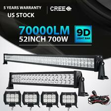 "52INCH 700W LED Light Bar Combo+ 22"" 280W + 4"" 18W Fit Jeep Wrangler JK YJ TJ CJ"