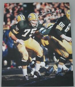 """Packers FORREST GREGG Signed Stretched 16x20 Sports Canvas #3 AUTO w """"HOF '77"""""""