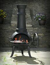 Large Cast Iron Chimenea: Etinas Log Burner Chimenea Patio Heater Tall Chiminea