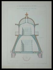 SAINT MARTIN DE SEIGNANX, CHATEAU D'EAU - GRAVURE 1880 -