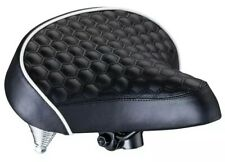 Schwinn Quilted Wide Cruiser Saddle Comfort Coil Spring Weather Resistant Seat