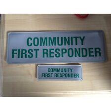 Encapsulated ST2 COMMUNITY FIRST RESPONDER Reflective Badge SET 300mm