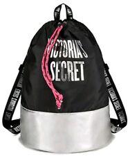 Victoria's Secret Tote 2018 Weekender Drawstring Gym Bag Black