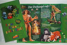 2x Tarzan DVD Flyer Beilage 1999 ERB & Disney Video