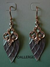 Jody Coyote Earrings JC0300 new hypoallergenic gold green color dangle P