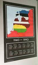 vintage poster Baltic Sea 1990's Baltic states original pin-up litho