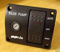 Marine bilge pump switch RULE 3 way 12v illuminated deluxe   MODEL 43