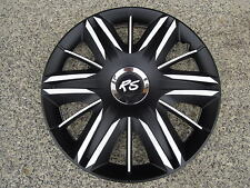 """4 Alu-Design Radkappen  14 Zoll """"Maximus schwarz/weiß+"""" für Hyundai i10"""