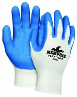 Safety Zone Blue/Gray Coated Knit Gloves (grsllg)
