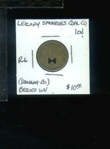 CR) Coal Scrip Leccony Smokeless Coal Co  R-6 10 cent Besoco WV