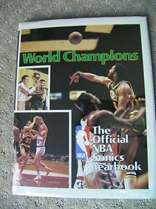 Official NBA Seattle Sonics Yearbook 1978-1979 World Champions