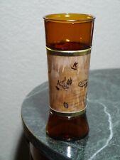 New listing 1 Vintage Brown Glass With a Genuine Walnut Wood Jacket Cowboy Western Man Cave
