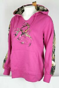 Legendary Whitetails Women's Camo Outfitter Hoodie Sweatshirt Size Medium Pink