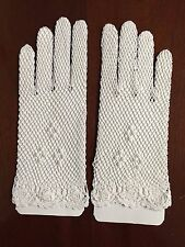 New Vintage Look Adult White Crochet Gloves (Boutross Imports Since1894):GL1021