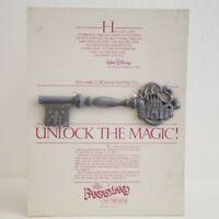 Disneyland Unlock Magic Fantasyland Rededication Cast Member Premiere Key 1983