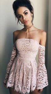 Tigermist Pink Lace Playsuit Romper Size L