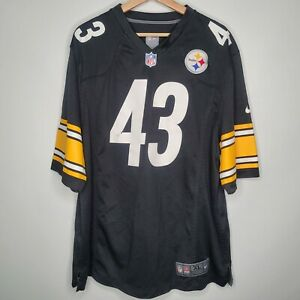 NFL Troy Polamalu 43 Pittsburgh Steelers Nike On Field Jersey Size XL