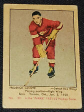 1951-1952 PARKHURST FREDERICK GLOVER DETROIT RED WINGS - ROOKIE HOCKEY CARD #60